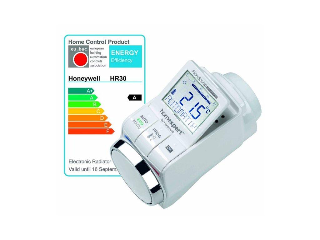 Honeywell HomeExpert HR30, programovatelná úsporná termostatická hlavice