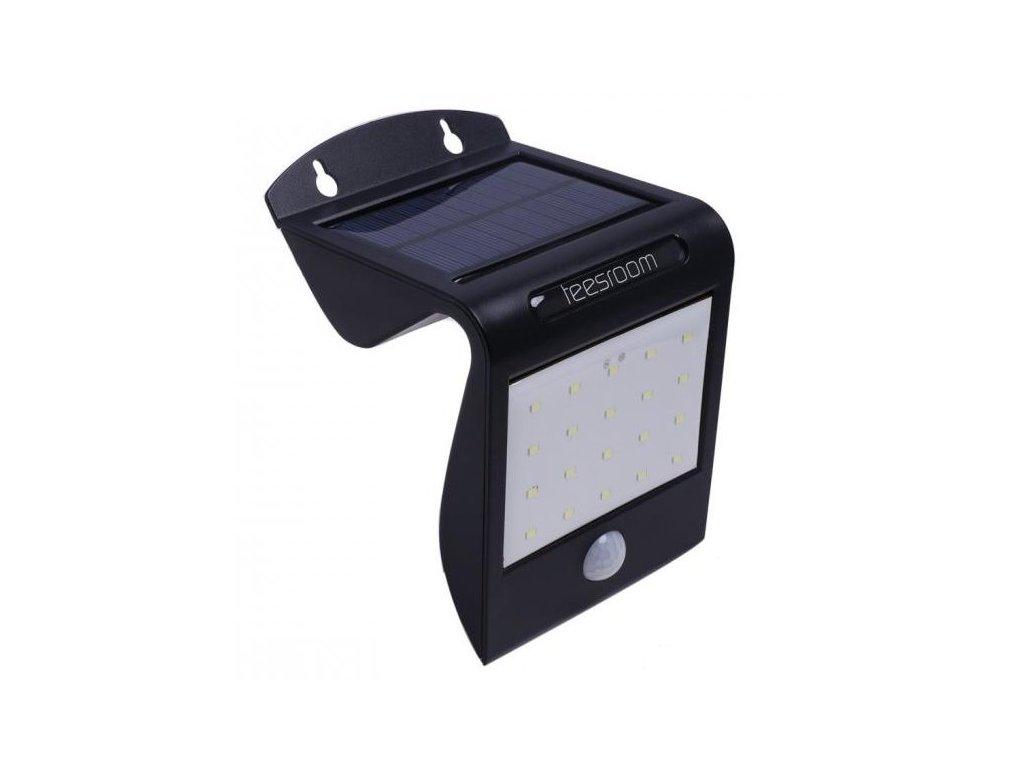 iQ-Tech Aql solární venkovní světlo, 20 + 2 LED, pohybový sensor, bezdrátové, černé