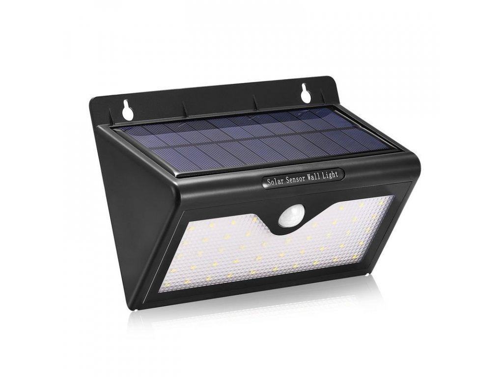 iQ-Tech Car solární venkovní světlo, 46 LED, pohybový sensor, bezdrátové, černé