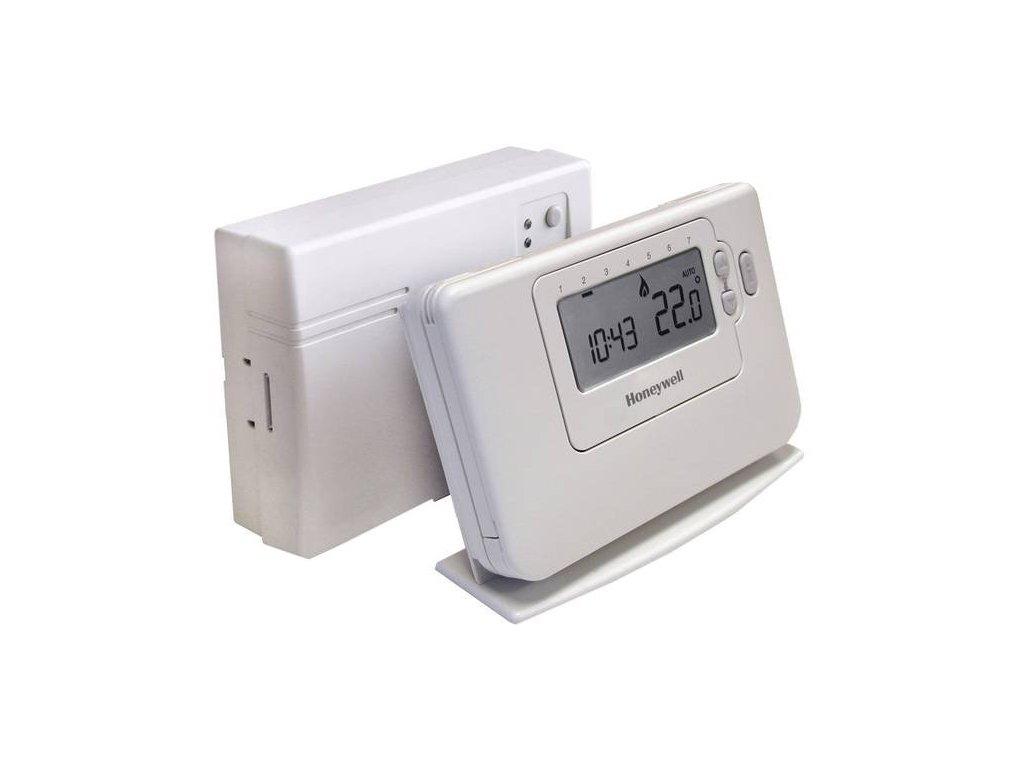Honeywell CM727RF Bezdrátový digitální programovatelný termostat, 7denní program, CMT727D1120