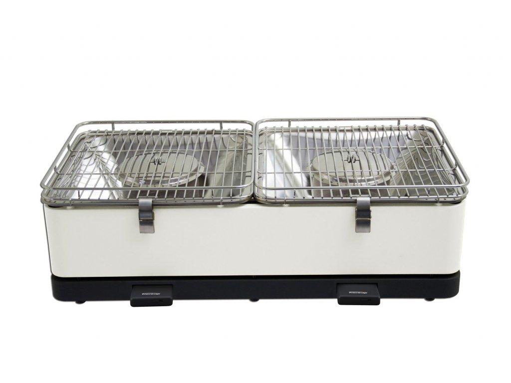 Feuerdesign stolní gril Santorin - krémově bílý