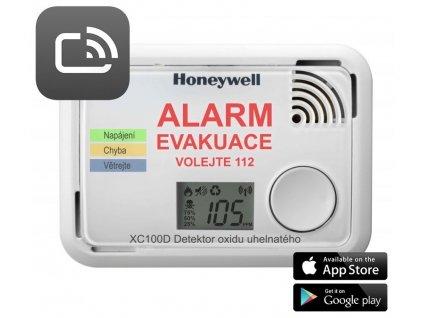 Honeywell XC100D-CSSK-A, Smart detektor a hlásič oxidu uhelnatého, ScanApp, B-Stock