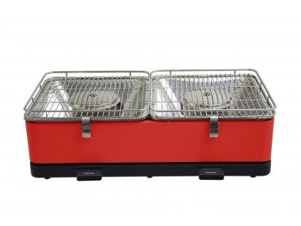 Feuerdesign stolní gril Santorin - červený