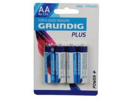 grundig batterijen alkaline r6 aa zn 975 mah 4 stuks 248020
