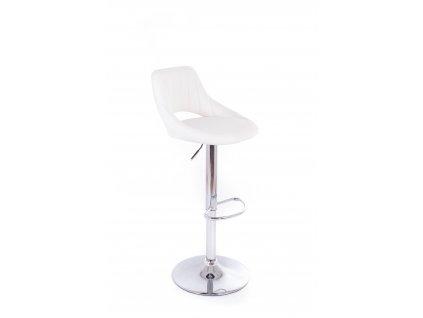Barová židle G21 Aletra koženková white