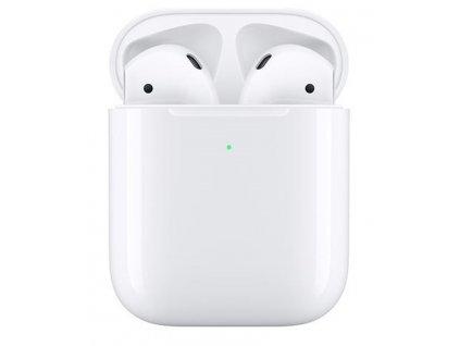 Sluchátka Apple AirPods , bezdrátové nabíjecí pouzdro (2019)