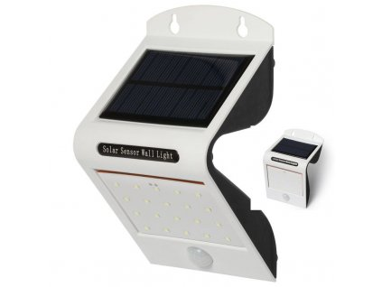 iQ-Tech Aql solární venkovní světlo, 20 + 2 LED, pohybový sensor, bezdrátové, bílé