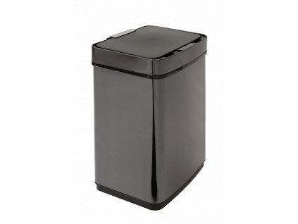 iQ-Tech Luxe Quadrat 50 l, bezdotykový odpadkový koš Lux hranatý, černý